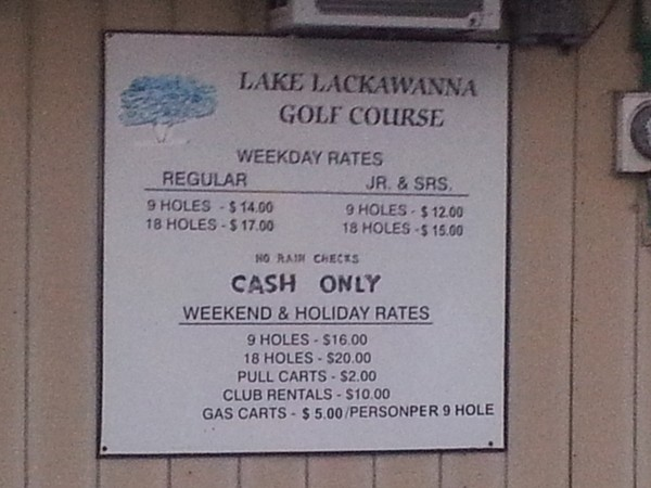 Byram Twp, NJ, Lake Lackawanna Golf Course, 9 holes, great for practice & beginners. Carts available