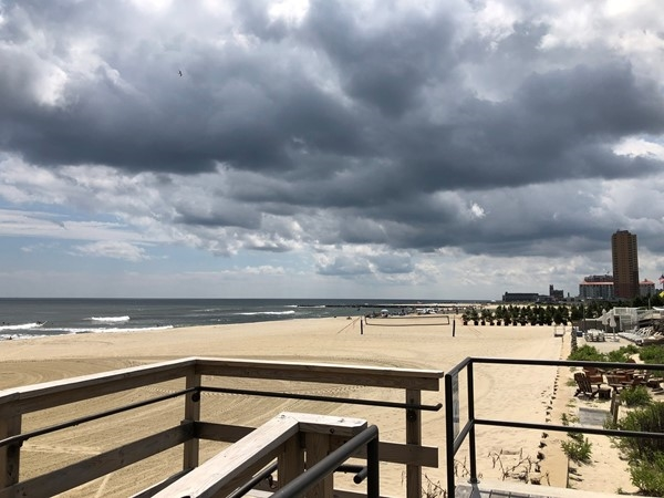Beautiful sky in Allenhurst looking south towards Asbury Park, NJ