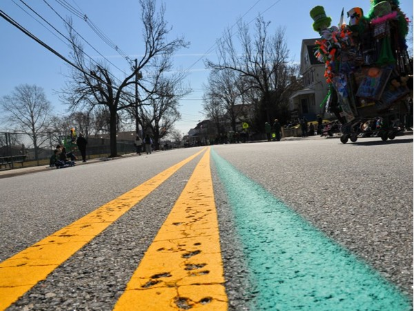 Follow the green line along Main St. in West Orange for the biggest St Patricks parade in the state
