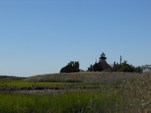 Distant view of East Point Lighthouse.