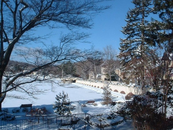 Lake Mohawk Boardwalk in winter