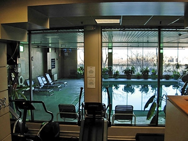 Indoor pool as seen from the Health Club in The Colony