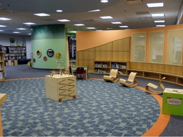 Monroe Twp Library childrens area