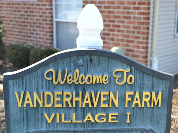 Vanderhaven Farm clubhouse welcome sign. A community worth checking out