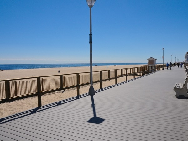 The boardwalk stretches along Point Pleasant