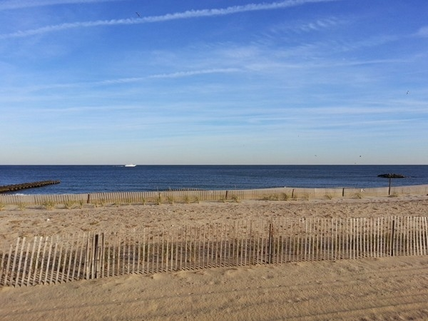 Directly across the street from the Sandcastle in North Long Branch is this beach