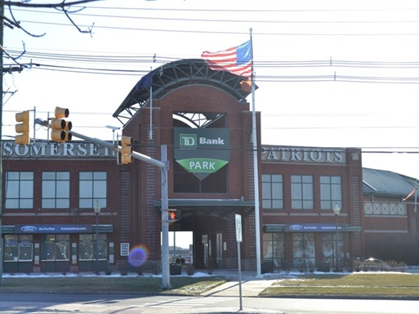 The ballpark is located at 860 East Main Street, Bridgewater