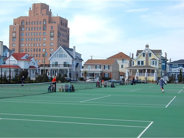 The Ventnor City Tennis Courts are located on Atlantic Avenue between Suffolk and Somerset Avenues.