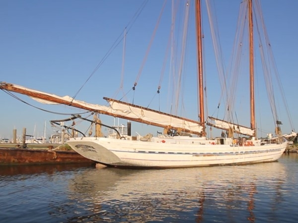 AJ Meerwald - a restored fishing schooner visiting Cape May