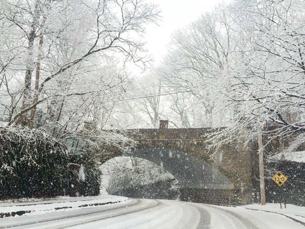 The Old Stone Bridge on the first day of spring