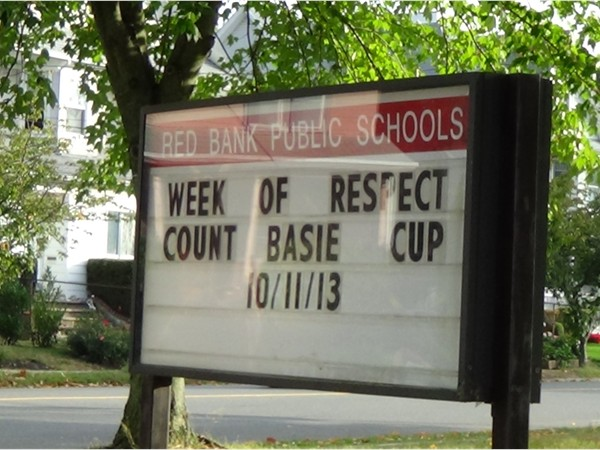 Red Bank Schools Sign, Red Bank, NJ