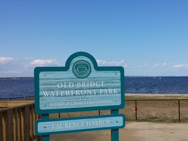Old Bridge Waterfront Park on a nice sunny day
