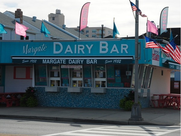 The Margate Dairy Bar is a popular spot for ice cream and burgers