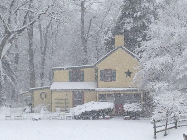 A snow day in Hamilton Township