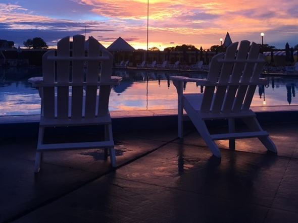 Picturesque sunset at the Deal Casino Beach Club. Can you imagine yourself here?
