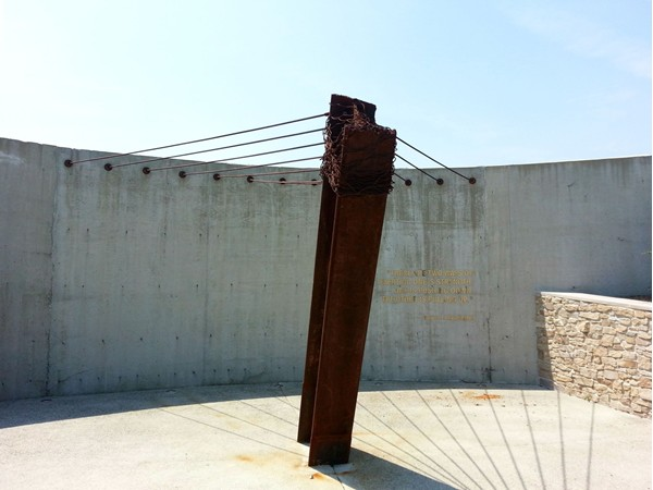 9/11 Memorial in Mercer County Park features a beam and cables from the World Trade Center