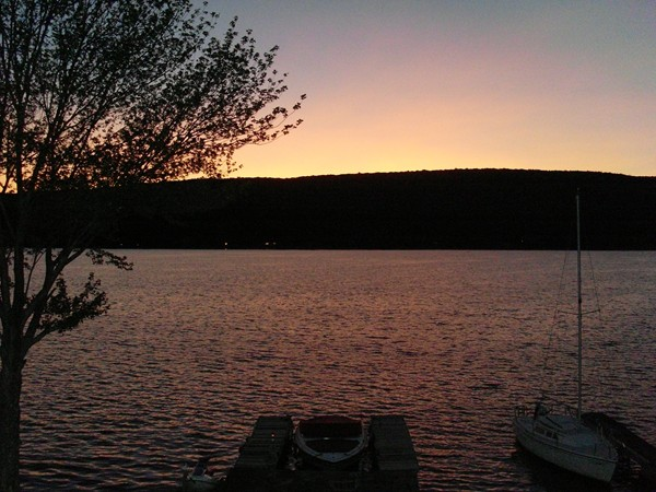 Sunset on Greenwood Lake in West Milford