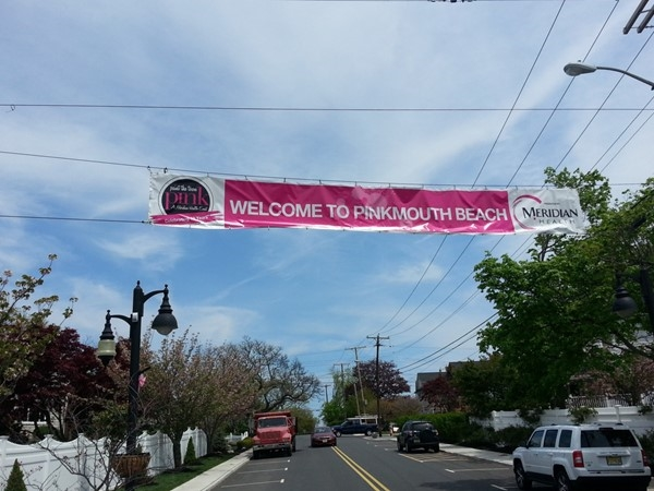Monmouth Beach is once again painting the town pink for the month of May