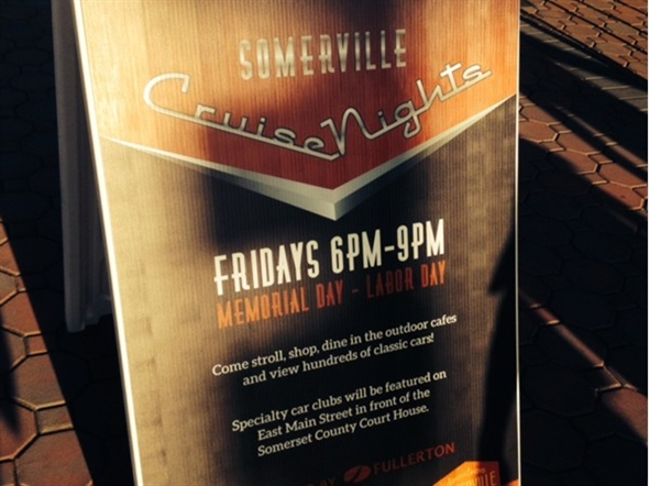 """Memorial Day to Labor Day every Friday night is """"Somerville Cruise Night"""" 6:00-9:00 p.m."""