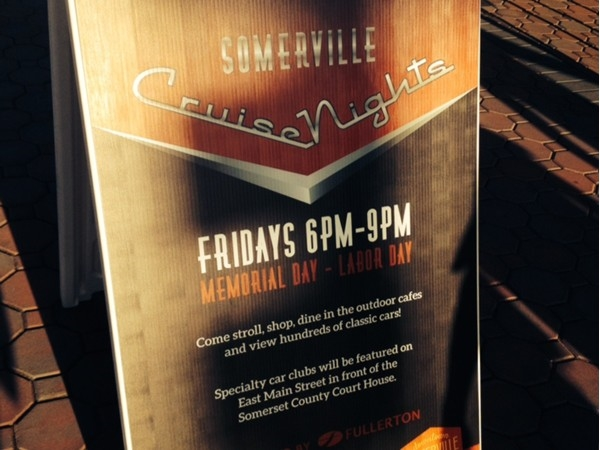 "Memorial Day to Labor Day every Friday night is ""Somerville Cruise Night"" 6:00-9:00 p.m."