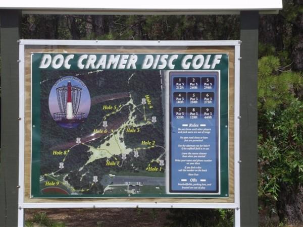 Play disc golf on Manahawkin course