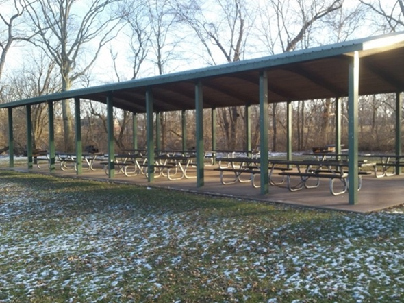 Find pavilions throughout the park. Great for spring,summer and fall picnics