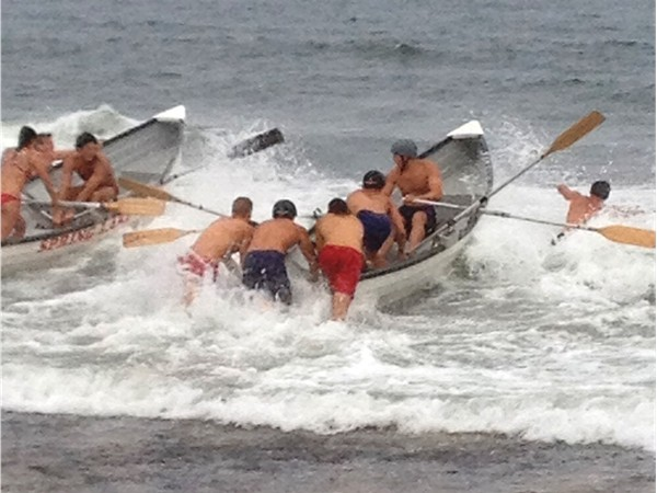 Boat relay at the Life Guard Tournament in Spring Lake