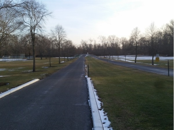 View of entrance to Duke Island Park - Bridgewater