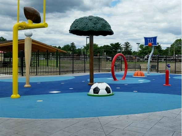 The Splash Park will open on Wednesday,July 1st. Hours will be 11:00 am - 7:00 pm