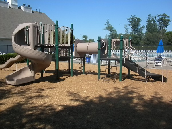 Playgrounds are set throughout the Hills communities; this is next to Rec Center & Pools