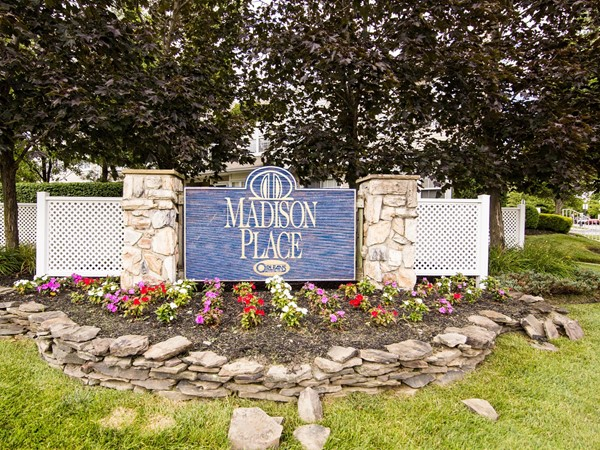 Community entrance to Madison Place