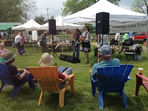 Opening Day at the Hunterdon Land Trust Farmers' Market