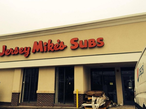 The sign is up - soon the subs will be made too! Jersey Mike's Subs coming to West Orange