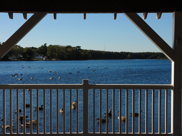 A view from the gazebo at Lake Manahawkin