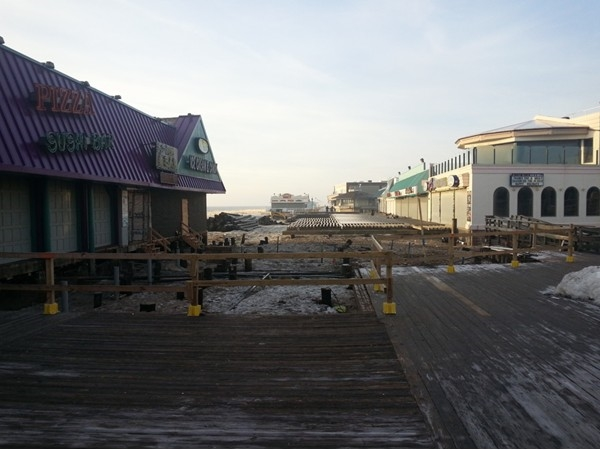 The recovery from Sandy continues as the boardwalk is prepped for the coming season
