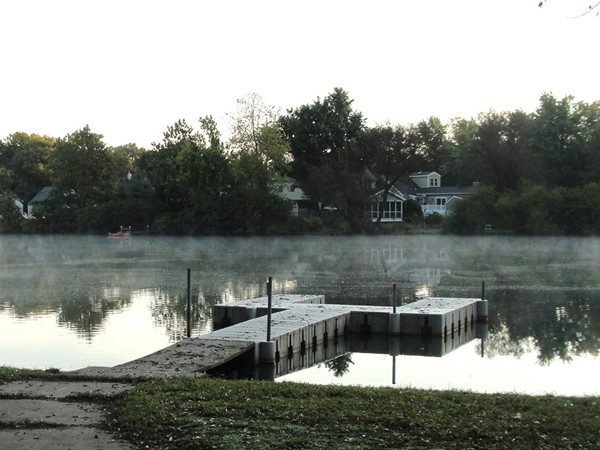 Mist rising on Lake Weamaconk