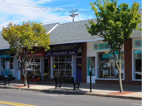 Quaint shops can be found in Stone Harbor
