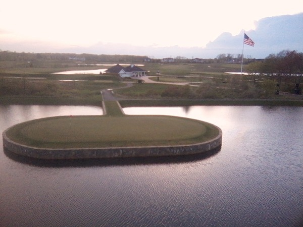 Trump International Golf Course from the Club House balcony