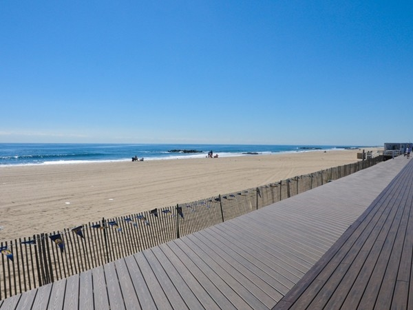 Stroll along the boardwalk and enjoy the view in Belmar