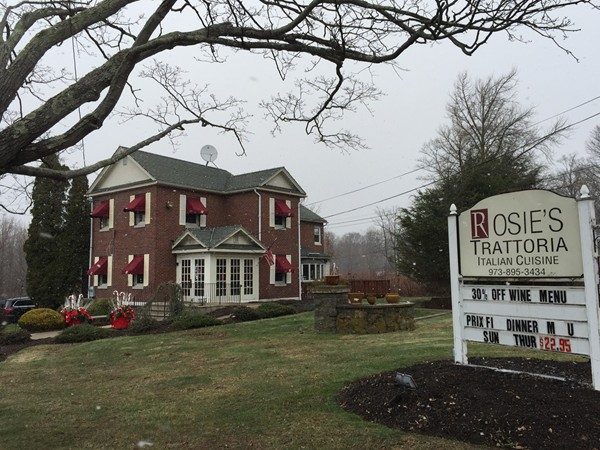 Rosie's Trattoria is located on Sussex Turnpike in Randolph and is a great place to get Italian food