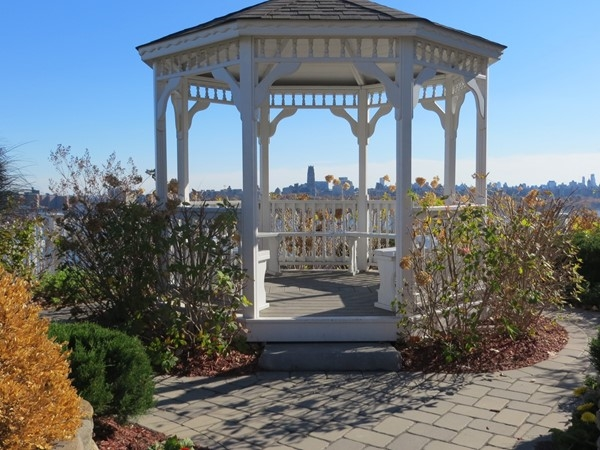 Lovely gazebo to enjoy views of the Hudson River and NYC skyline