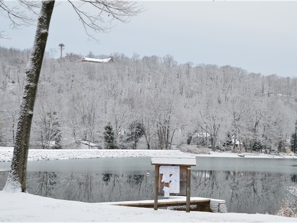 View of Snowy Upper Lake