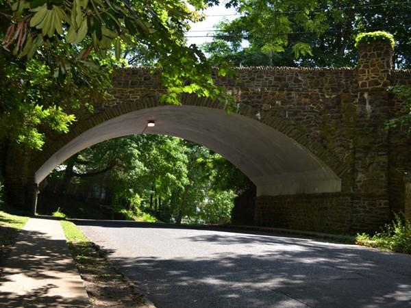 Gorgeous stone bridge located on Grand Avenue