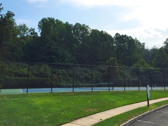 Four Oaks Tennis Courts is in a quiet location