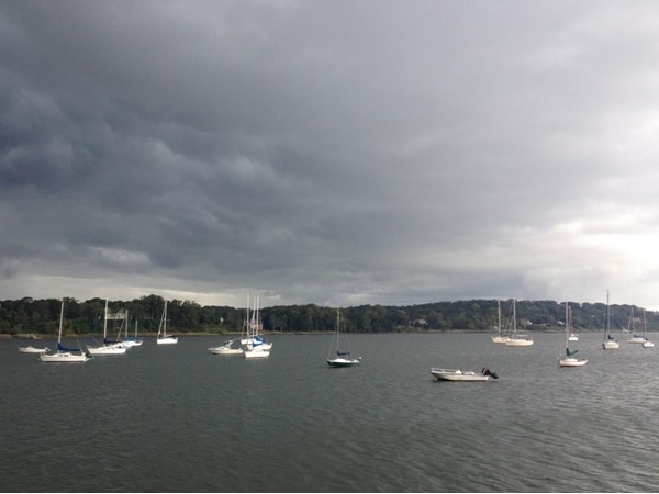 Amazing clouds rolling in over the Navesink River just before a thunderstorm