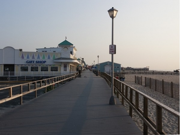 Point Pleasant Boardwalk in the morning