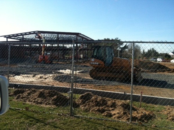Sharon School addition is well under way!