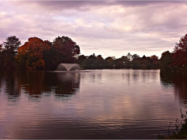 Beautiful fall evening at Franklin Lake