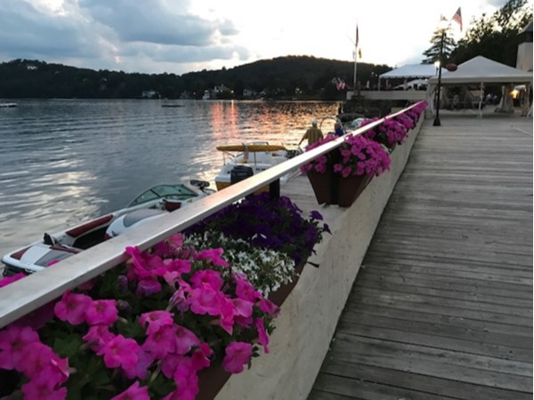 Lovely July evening on Lake Mohawk boardwalk