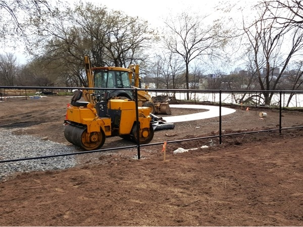 Progress being made at the new dog park